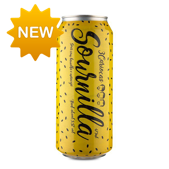 Cerveja 3Cariocas Sournilla Passion Fruit 473ml