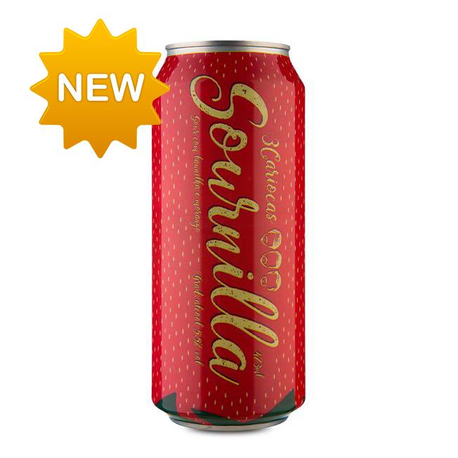 Cerveja 3Cariocas Sournilla Strawberry 473ml
