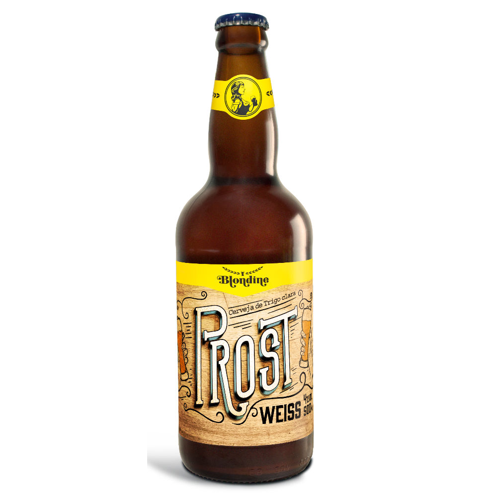 Cerveja Blondine Prost Weiss - 500ml