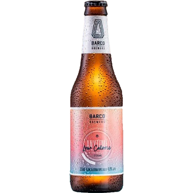 Cerveja Barco Anytime Low Calorie Lager 355ml